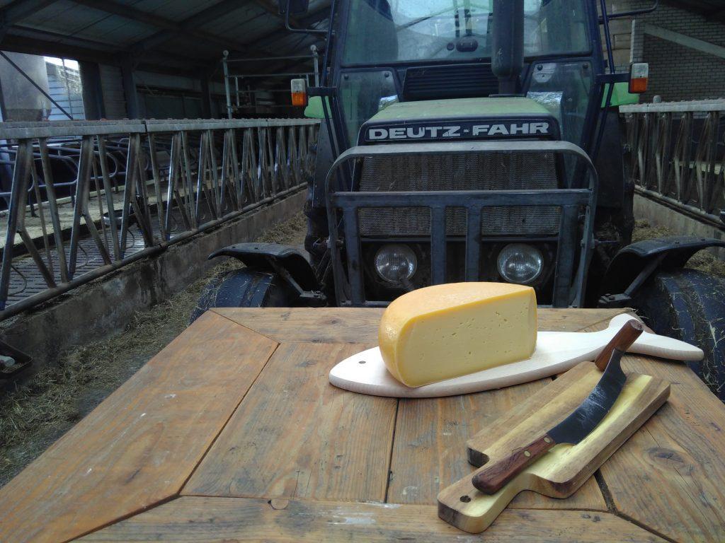 Kaas bij de trekker